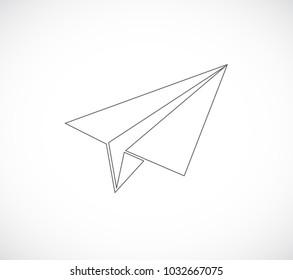 paper plane outline icon