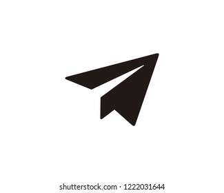 Paper plane send icon sign symbol