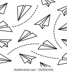 Paper Planes Origami Seamless Background