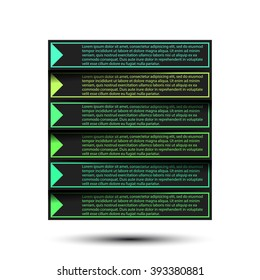Paper progress steps for tutorial. Vector illustration