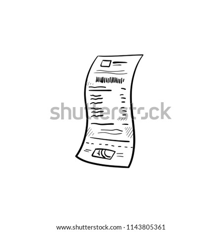 paper receipt hand drawn outline doodle stock vector royalty free