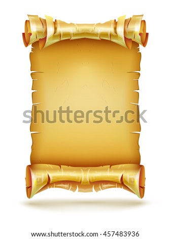 paper scroll old anicent parchment manuscript stock vector royalty