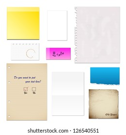 Paper - Set - Isolated On White Background - Vector Illustration, Graphic Design Editable For Your Design. Lot Of Useful Elements