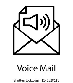 Paper sheet having audio speaker sign representing voicemail icon