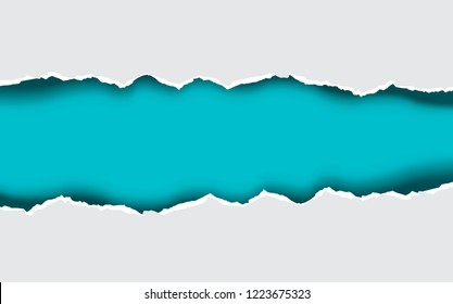 A paper sheet with a section ripped out of it. Vector torn effect.