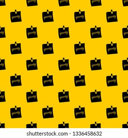 Paper sheet with text qwerty pattern seamless vector repeat geometric yellow for any design