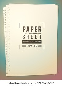 Paper sheets background