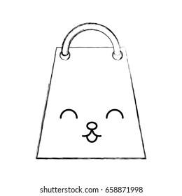 paper shopping bag kawaii character