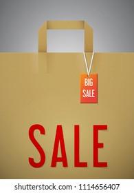 Paper shopping bag. SALE.