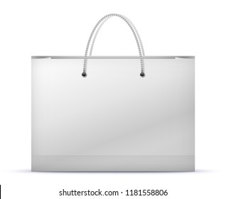 Paper Shopping Bag Vector Illustration Isolated On White Background