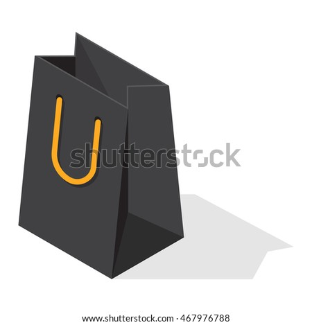 Paper shopping bags isolated on white background, Shopping bag pack fashion  store empty market and shopping commerce package box present packet - Vector 4b7bec3260