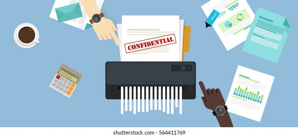 paper shredder confidential and private document office information protection