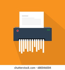 paper shredder icon document business office information protection