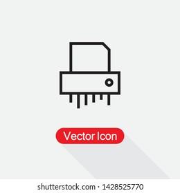 Paper Shredder Icon, Shredder Icon Vector Illustration Eps10