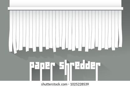 Paper shredder, isolated vector object