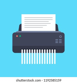 Paper Shredder Machine Vector Illustration.