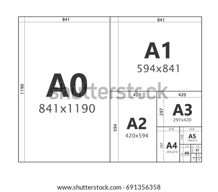 paper size format series a a 0 stock vector royalty free. Black Bedroom Furniture Sets. Home Design Ideas