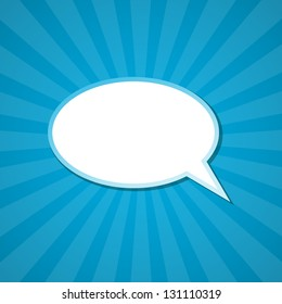 The paper speech bubble background. Vector illustration.