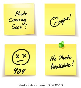 paper stickers - error,404, oops,no photo available
