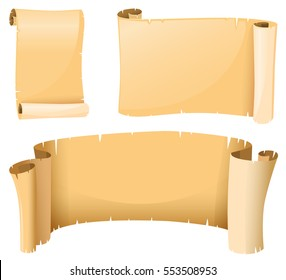 Paper template in medieval style illustration