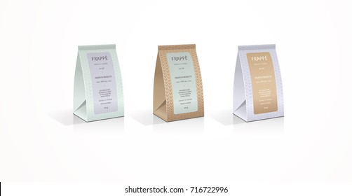 Paper tent bag 3D packaging design illustration