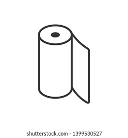 Paper / textile roll, isolated line icon