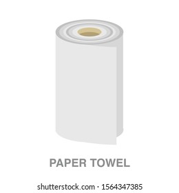 Paper towel flat icon on white transparent background. You can be used paper towel icon for several purposes.