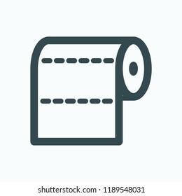 Paper towel vector icon