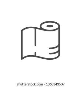 Symbol für die Linie Papierhandtücher