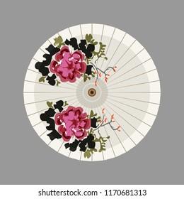 Paper Umbrella vector Illustration