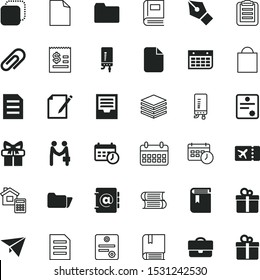 paper vector icon set such as: categorize, case, commercial, style, happiness, duplicate, storage, management, appraisal, rest, wall, toy, fastener, lecture, magazine, contract, shop, payment, pencil