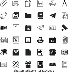 paper vector icon set such as: story, add, ui, bookmark, giftbox, message, bow, letter, analyze, tourism, reader, board, vacation, ticket, coin, communication, party, papers, prioritize, online, bell