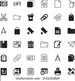 paper vector icon set such as: tax, checkmark, hairdresser's tool, woman bag, bin, choice, growth, tailor, decoration, technology, cardboard, rich, new, pin, shear, modern, prize, delicious, scribble