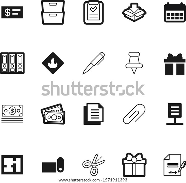 Paper Vector Icon Set Such Mat Stock Vector Royalty Free 1571911393