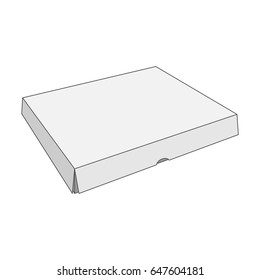 Paper white vector Box Template