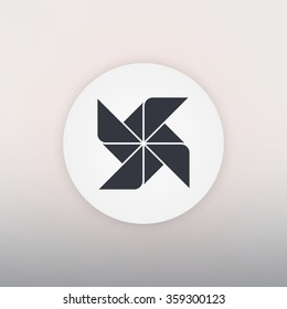 Paper windmill icon - Vector