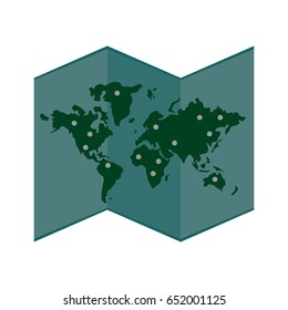 paper world  map icon image