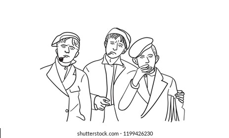 Paperboys Sketch 1900s