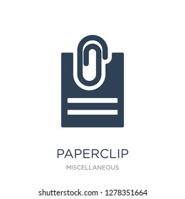 paperclip attachment icon vector on white background, paperclip attachment trendy filled icons from Miscellaneous collection, paperclip attachment vector illustration