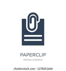 paperclip attachment icon vector on white background, paperclip attachment trendy filled icons from Miscellaneous collection, paperclip attachment vector illustration