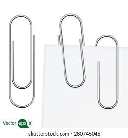 Paperclip set. Vector