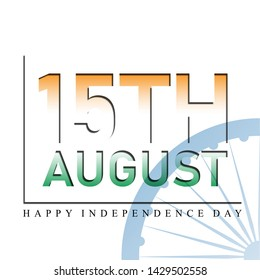 Paper-cut style vector illustration of Happy Independence Day of India with styling of Ashoka Chakra- Incredible India