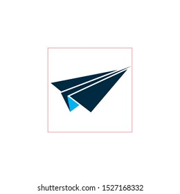 Paperplane design, Paper plane travel airplane transportation fly and decoration theme Vector illustration