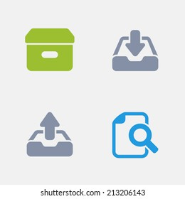 Paperwork Icons. Granite Series. Simple glyph stile icons in 4 versions. The icons are designed at 32x32 pixels.
