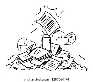 Paperwork.Cartoon illustration isolated on white background