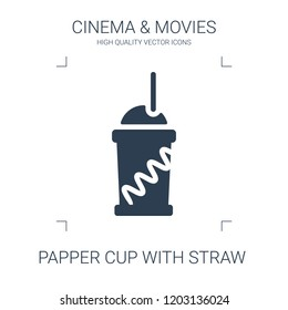 papper cup icon. high quality filled papper cup icon on white background. from cinema collection flat trendy vector papper cup symbol. use for web and mobile