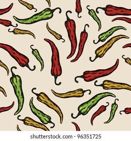 Paprika, pepper PATTERN