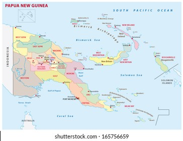 New Guinea Map Images Stock Photos Vectors Shutterstock