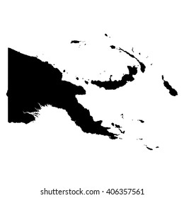 Papua New Guinea black map on white background vector