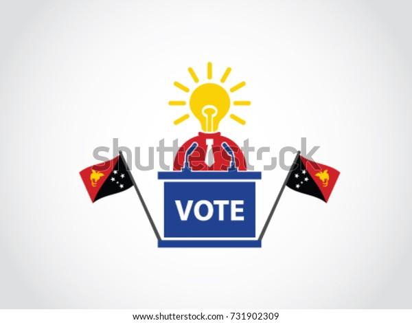 Papua New Guniea Podium Bright Idea Politician Poll